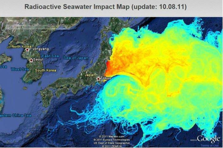 Fukushima Radiation Detected Miles Away In Pacific Ocean At - Japan radiation map 2016
